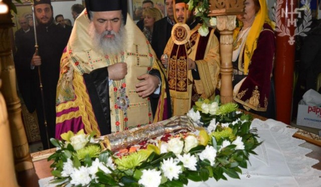 Υποδοχή Ιερού Λειψάνου και Μέγας Πανηγυρικός Αρχιερατικός Εσπερινός στον Άγιο Πολύκαρπο Μενεμένης (ΦΩΤΟ)